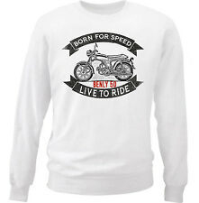 HONDA BENLY 50 - NEW COTTON WHITE SWEATSHIRT ALL SIZES IN STOCK