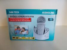 Audioline 5400 Tech, digitales schnurloses Telefon, Weckfunktion, OVP,  #K45-5