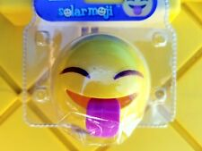 1- Happy Fun Tongue Out Emoji Bobble Toy Solar Power Car Dash Office Desk Gift