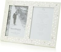 """NEW-Reed & Barton Seasons of Love Invitation Picture Frame, Double 5"""" x 7"""""""