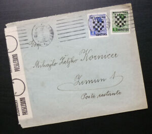 Croatia 1941 - NDH Cover WWII - Sent from Zagreb to Zemun Serbia A1