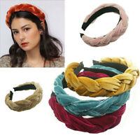 Braided Band Headband High-grade Hoop Hair Hairband Accessories Women's Velvet