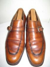 Berluti Boutique Paris Fatte A Mano Monk Brown Leather Shoes Mens Size 9.5
