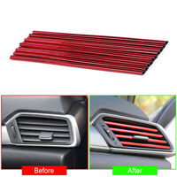 10cmx20cm Red Air Conditioner Air Outlet Decoration Bright Strip Car Accessories