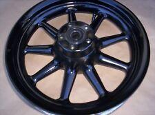 HARLEY DAVIDSON TOURING flh  Black Powdercoated rear 9 spoke wheel EXCHANGE