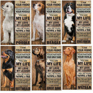 Dog Breeds Tin Metal Sign Home,Dog Caffe, Wall Decor Art Plaque For Pet Lovers