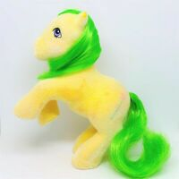 Vintage G1 My Little Pony So Soft Flocked Rearing SS Magic Star