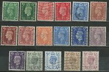 GREAT BRITAIN 1937 '' KING GEORGE VI '' 17 VALUES USED (ΜΕΞ 110)