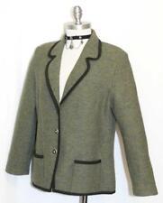 """MADELINE BOILED WOOL Sweater Jacket German Women GREEN Coat B42"""" Eu42 12 M"""