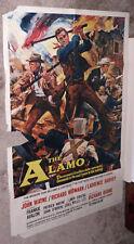 THE ALAMO original 1960 27x41 one sheet movie poster JOHN WAYNE