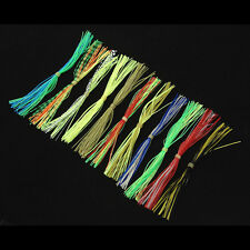 12 Bundles Fly Tying Rubber Threads Straps for Flies Lures Beard wire Making  S