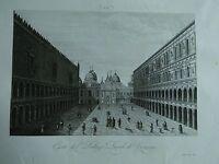 1845 Zuccagni-Orlandini Corte del Palazzo Ducale di Venezia