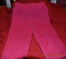 Infant Girl Legging Pants Size 12 Month Simply Basic Striped Pink & Purple