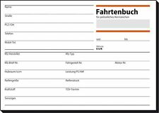 10 x Sigel Fahrtenbuch A6 quer 44 Blatt für PKW