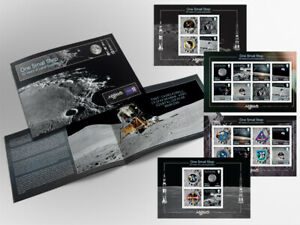 IOM Stamps & Coins One Small Step 50 Years of Lunar Exploration Prestige Booklet