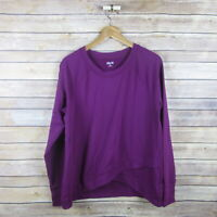 ZELOS Women's Long Sleeve Crew Neck Raglan Super Soft Top M Medium Purple