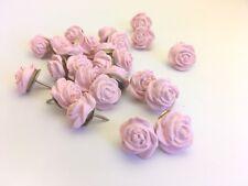 35 Pink Rose Flower Thumbtacks or Push Pins, for Weddings, Parties, Showers