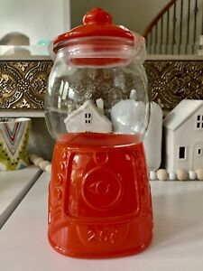 Target bullseye playground Glass Gumball machine Valentines Day Canister Candy