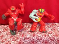 Lot of 2 Gormiti Giochi Preziosi Action Figures  2007- 2009 2 inches Red Series