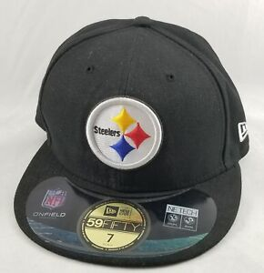 New Era 59Fifty Pittsburg Steelers NFL Size 7 Fitted Hat Cap Officially Licensed