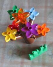 Lego Duplo Baum Stamm braun & 7 Blumen Blüten Gras