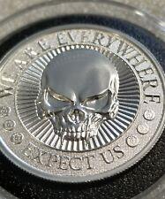 2 oz 999 Silver coin skull 2nd amendment Punisher 3 percenter memento mori 5.56