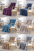 DAMA SOLID VERSATILE SUPER SOFT WARM THROW BLANKET MICRO-PLUSH MULTIPURPOSE