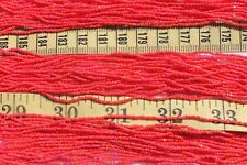 15/0 Czech True Cut Medium Red AB Glass Seed Beads Crafts Jewelry Making/hank