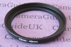 43mm to 49mm Male-Female Stepping Step Up Filter Ring Adapter 43mm-49mm
