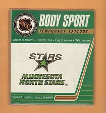 OLD LOGO MINNESOTA NORTH STARS BODY TATTOOS Unsold Stock Packaged