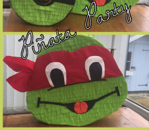 Ninja Turtle Piñata Birthday Children Party Games Kids