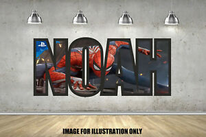 Avengers Spider Personalised Border Name Childrens Kids Wall Art Sticker Decal