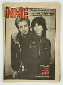 NME 18 October 1980 Fela Kuti Pretenders Modettes Distractions