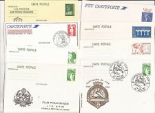 FRANCE- 14 postal stationery items ( 12 different) at attractive price