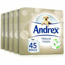 Andrex Natural Pebble Toilet Roll Tissue Paper Bathroom 45 Rolls Free P&P NEW