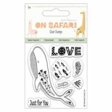 Docrafts Papermania On Safari Craft Collection - Clear Stamps - Whale