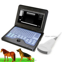 Vet Veterinary Tragbarer Ultraschallscanner, 3.5M konvexe Sonde, kleines Tier,CE