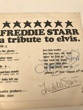 FREDDIE STARR  ENTERTAINER AUTOGRAPH (Joe Meek Connection) With Record