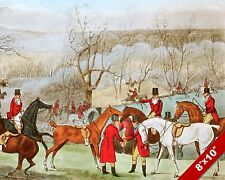 EARL OF LONSDALE FOX HUNT HORSE FOXHUNTING HUNTING ART PAINTING CANVAS PRINT