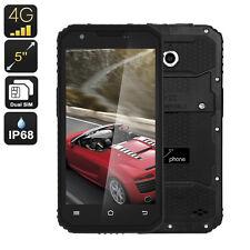 M3 Rugged Android Phone - IP68, Quad-Core CPU, 2GB RAM, 5 Inch Display (Black)