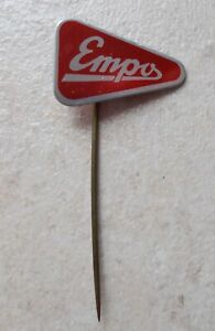 EMPO Netherlands Bicycle bike hat pin lapel tie tac hatpin pins 1960 red
