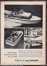"1963 CHRIS-CRAFT Cavalier 24"" Fiesta Cruiser Vintage Boat AD"