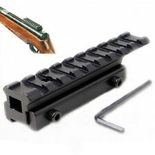 Extension 11mm to 20mm Weaver Adapter Converter Scope Mount Dovetail Rail Base