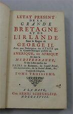 État présent de la Grand Bretagne et de l'Irlande, 1728, Tome 3.