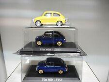 FIAT 600 1957 AZUL AMARILLO CLASICO POPULAR IXO 1:43