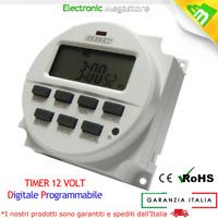 TIMER DIGITALE PROGRAMMABILE 12V