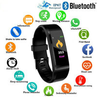 ID115Plus Bluetooth Smart Watch Wristband Bracelet Sport Fitness Heart Rate IP67