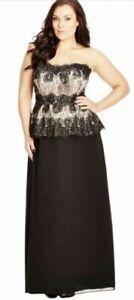City Chic Sz XS/14 Beaded Decadence Maxi Dress NWOT