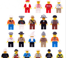 New assorted Minifigures lot of 20 town city people set Teaching Building Blocks