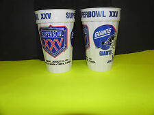 NFL-SUPER BOWL XXV-25 SILVER ANNIV. NY GIANTS -BUFFALO BILLS DUELING HELMITS CUP